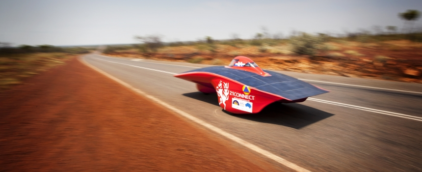 World Solar Challenge: A day on the road racing high-tech vehicles in Central Australia