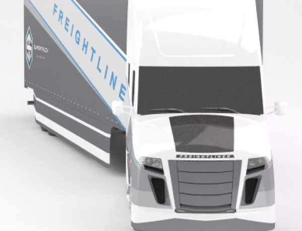 The Freightliner Supertruck – Featuring MiaSolé flexible, lightweight modules