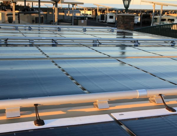 MiaSolé Completes Solar Carport Installation at Oakley Executive RV and Boat Storage using flexible thin-film FLEX Series Solar Modules