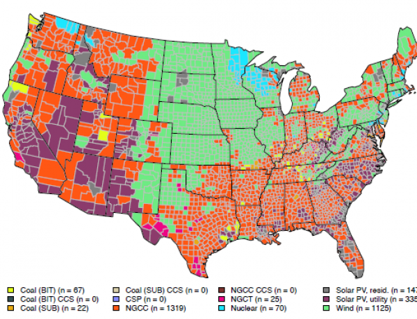 Interactive map shows why renewables and natural gas are taking over the US