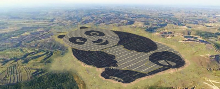 World's cutest solar farm in China is shaped like a panda